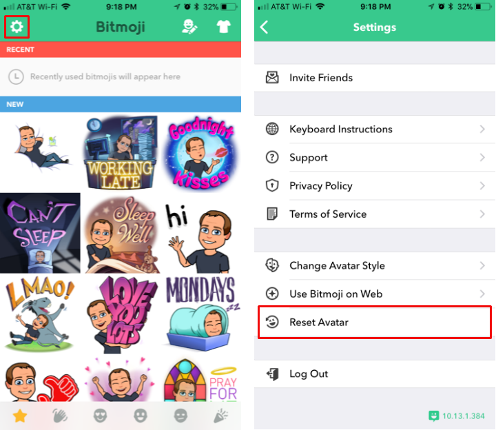 How to reset your Bitmoji avatar on iPhone and iPad. bce58e876
