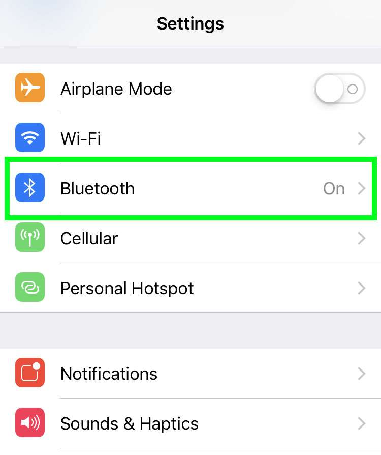 Bluetooth disconnect iPhone