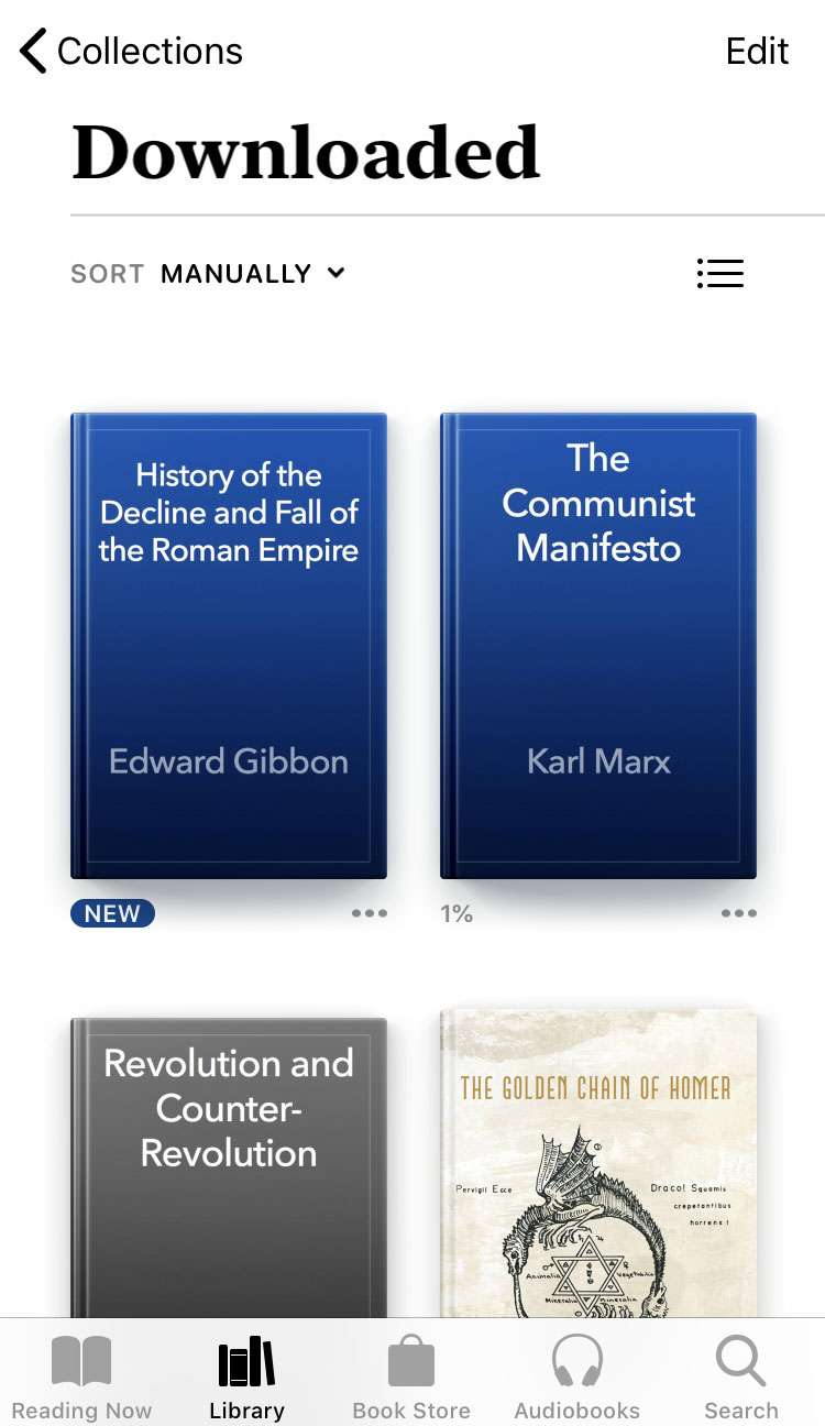 iOS Books downloaded