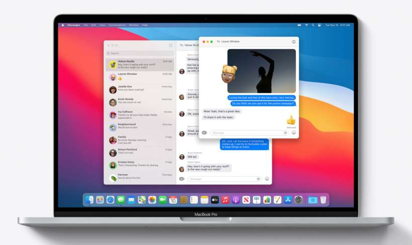 How to pin conversations, inline reply to messages and mention contacts in Messages for macOS Big Sur.