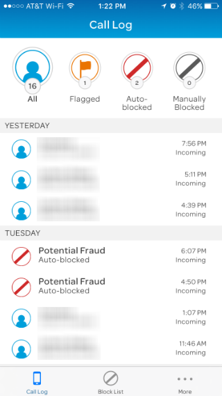 at&t call protect app