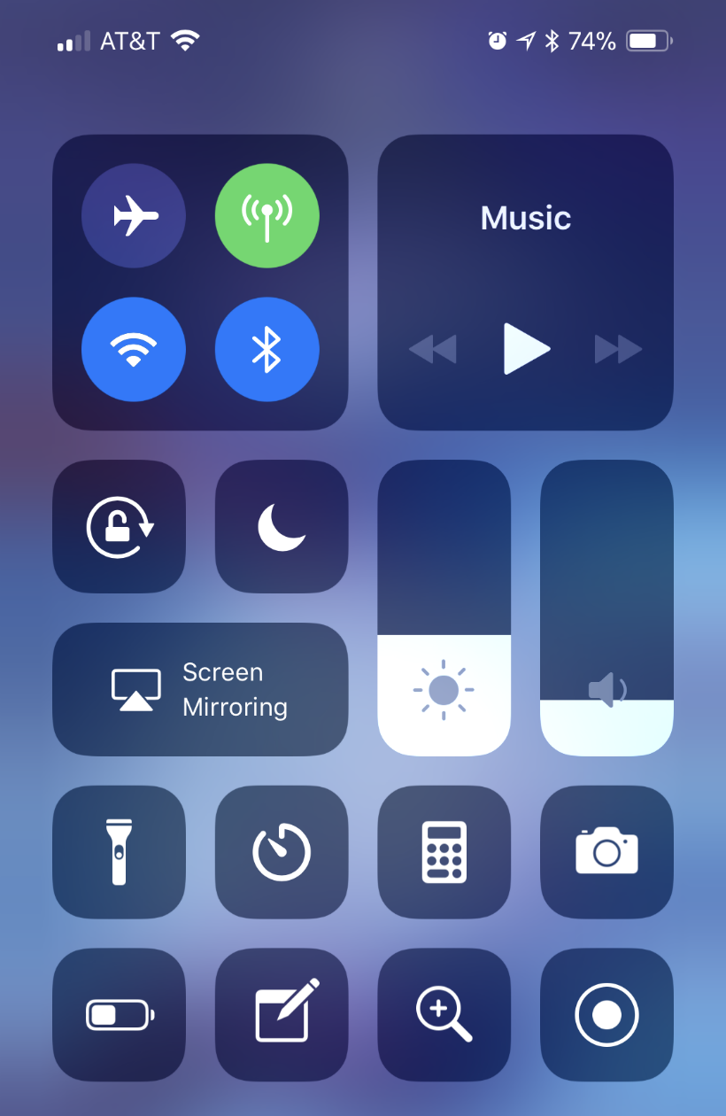 How to easily open Control Center on iPhone X with a virtual button.