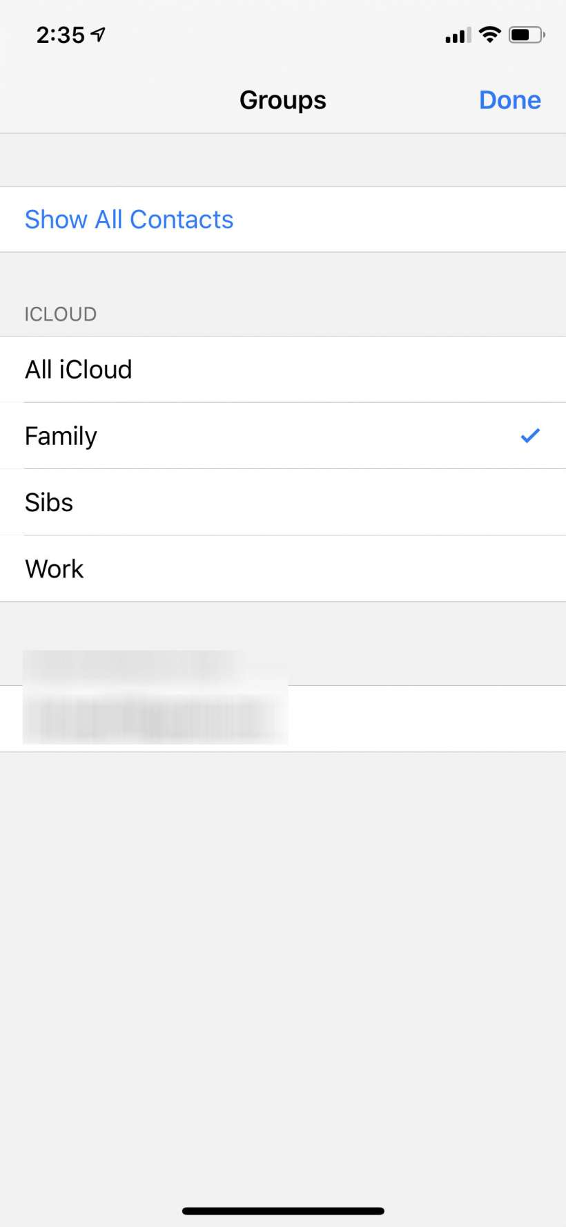 How to create a group of contacts on iphone 5s