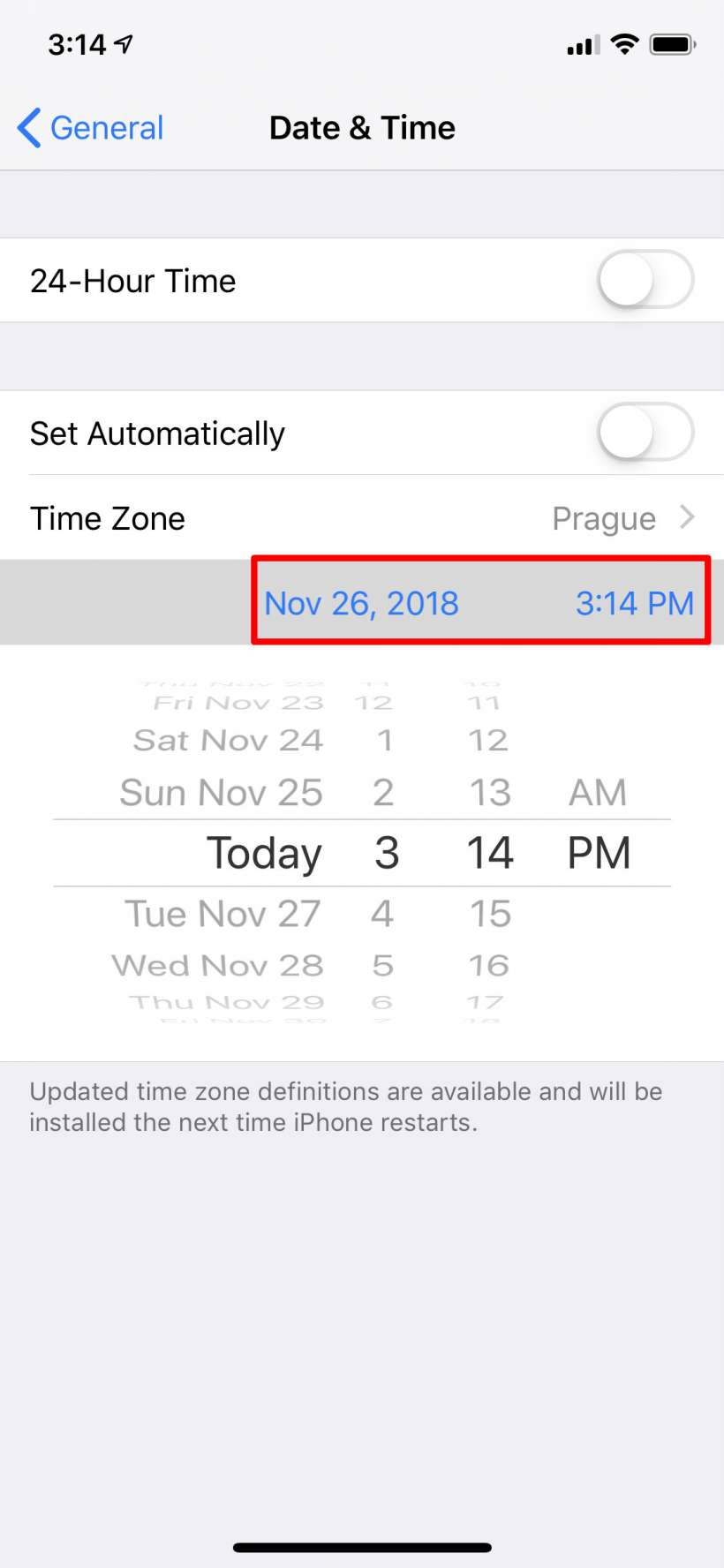 How to manually set the clock on iPhone and iPad.