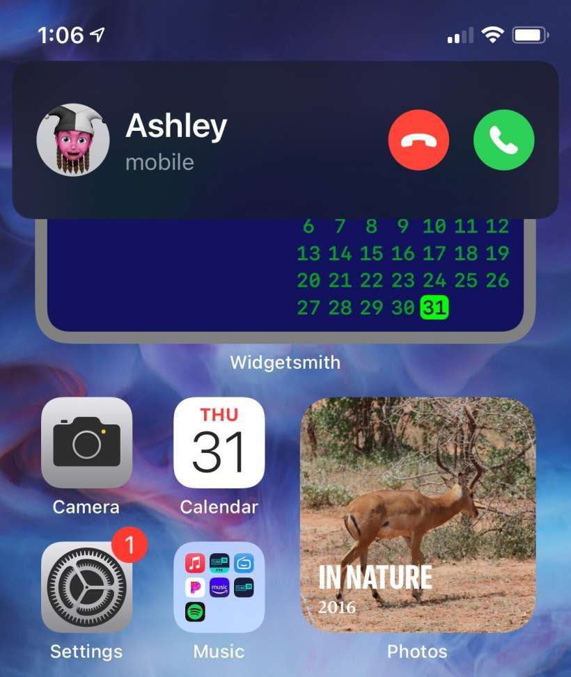 How to return to full screen call notifications on iPhone.