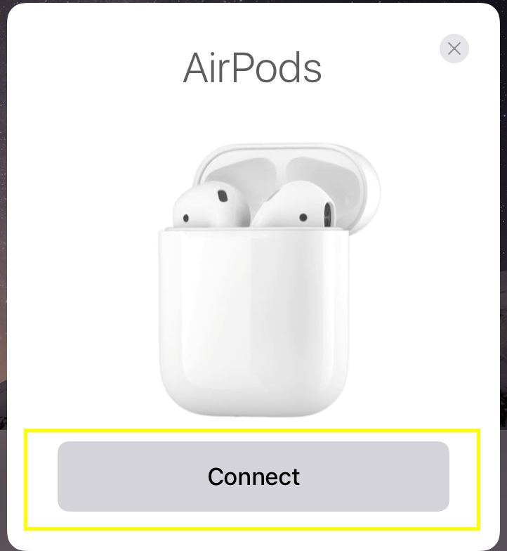 AirPods connect prompt