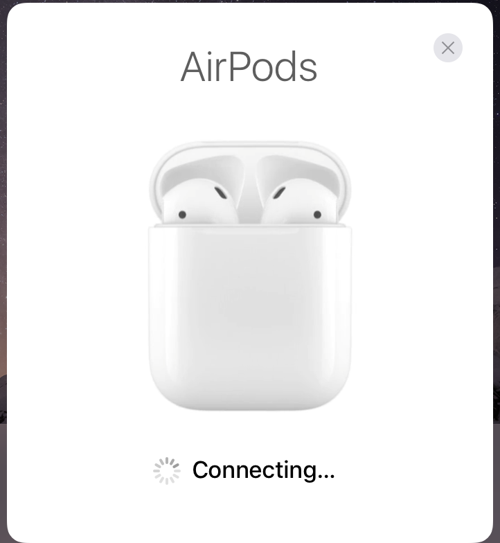 AirPods connecting iOS 10