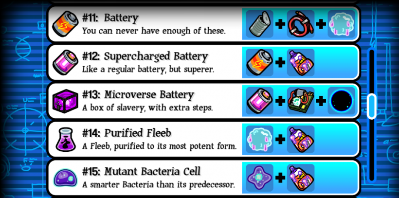 Pocket Mortys Crafting Recipes 11-15