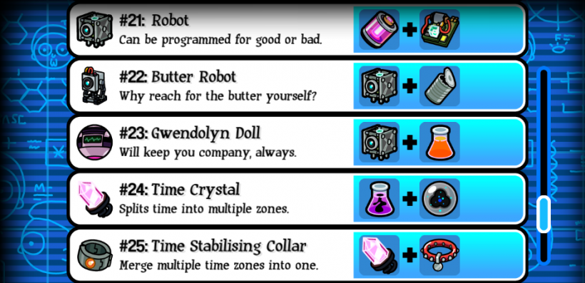 Pocket Mortys Crafting Recipes 21-25