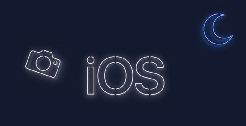iOS neon logo Apple