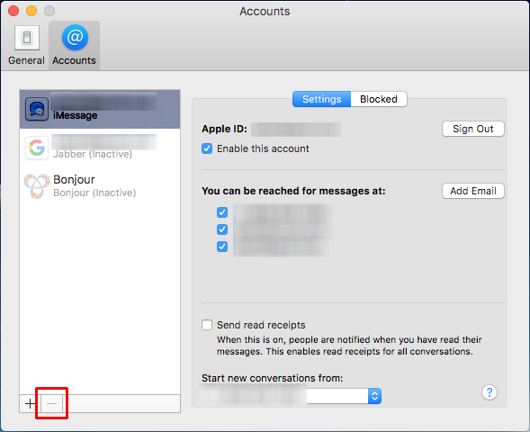 How to delete your Apple ID account from Messages on your Mac | The
