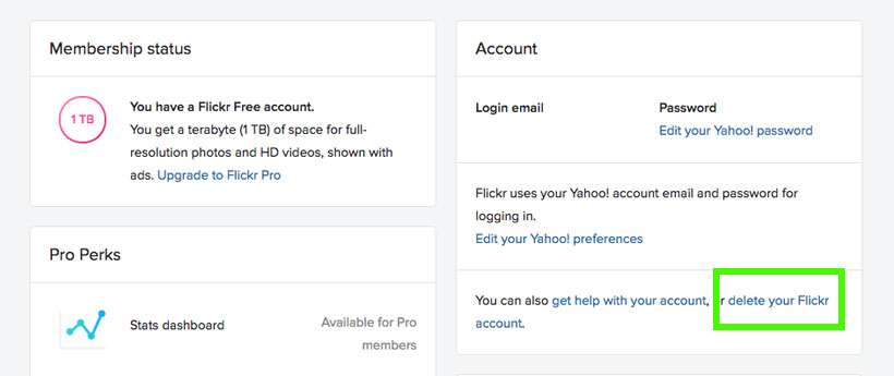 How to delete your Flickr account | The iPhone FAQ