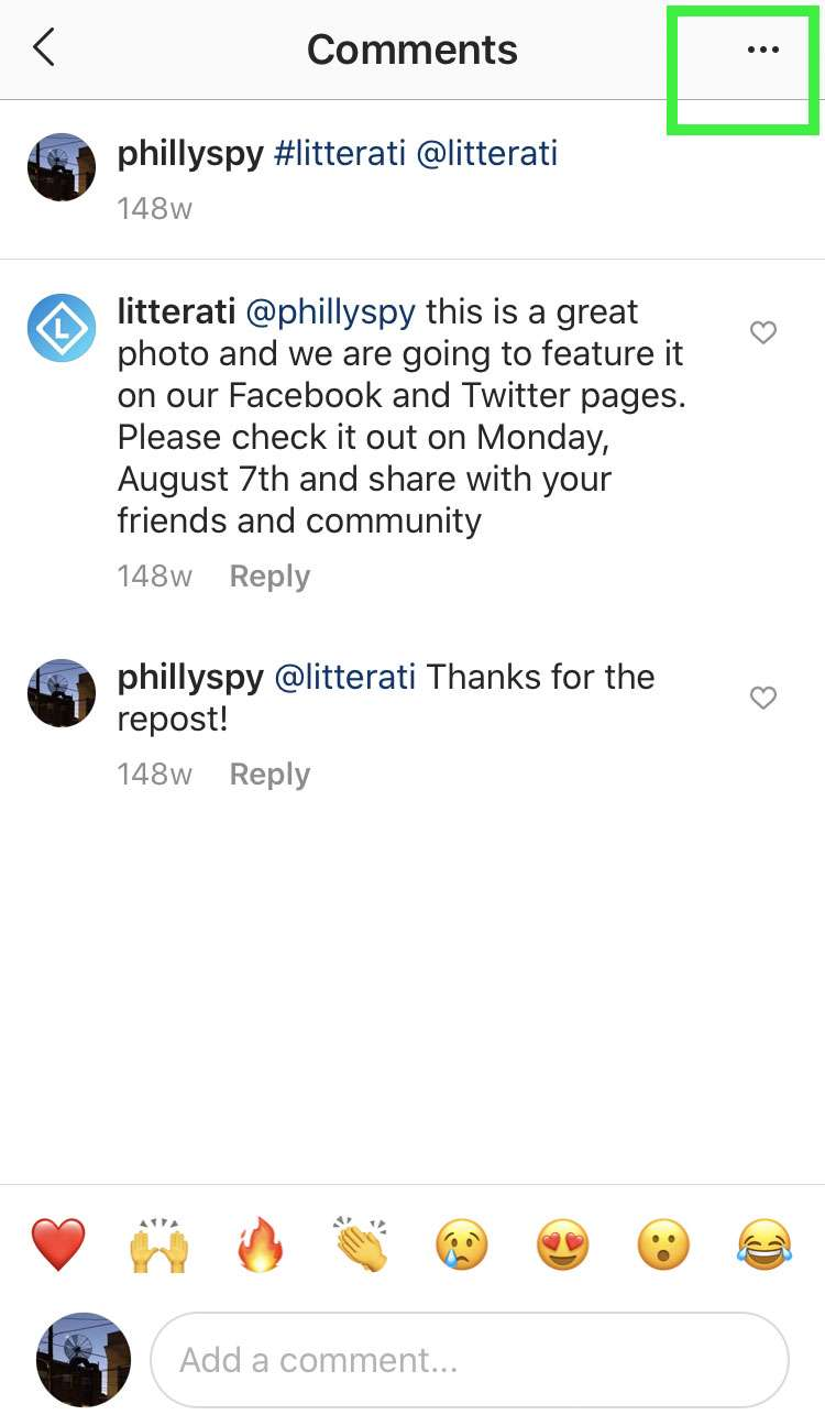 Instagram bulk delete comments