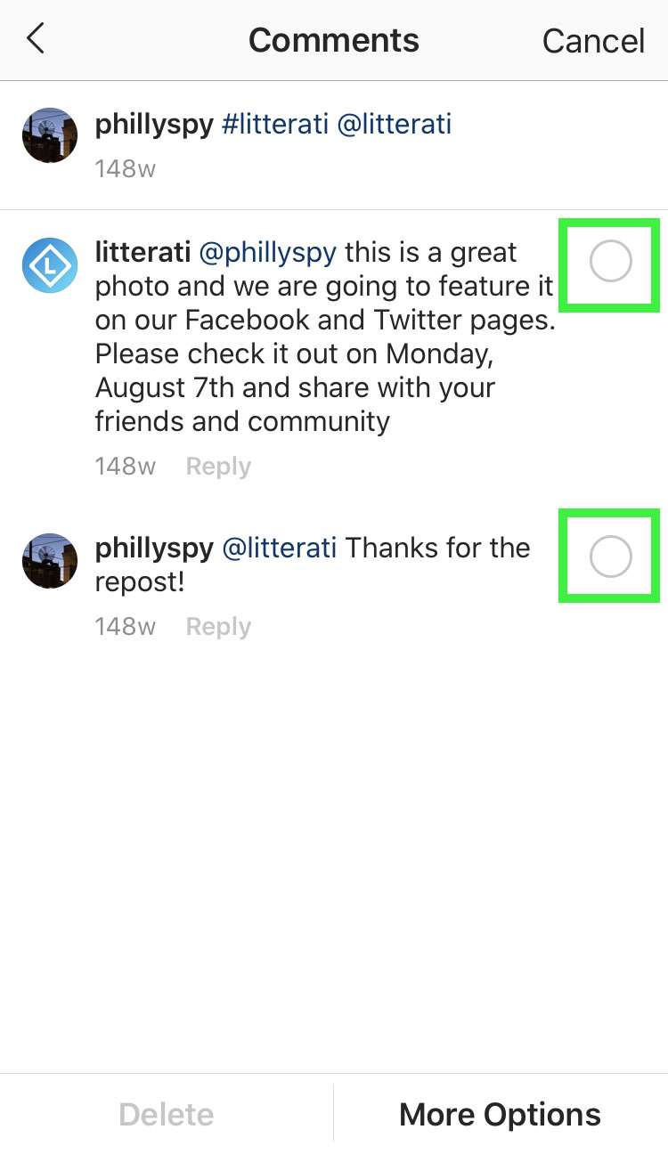 Instagram bulk delete comments 2