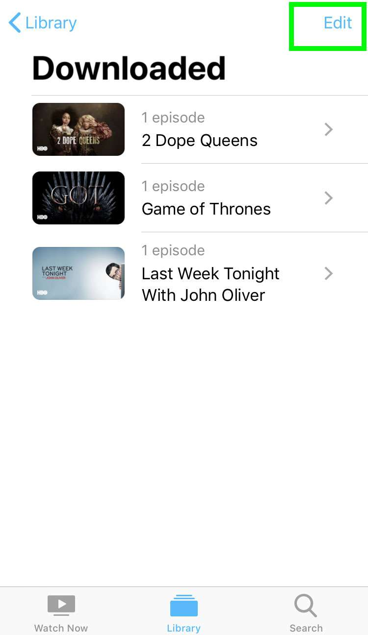 Delete stored shows iOS Apple TV app 4