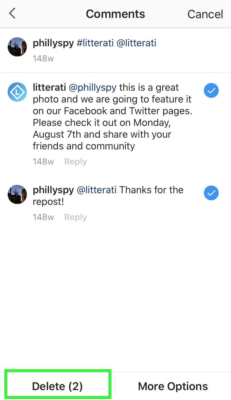 Instagram bulk delete comments 3