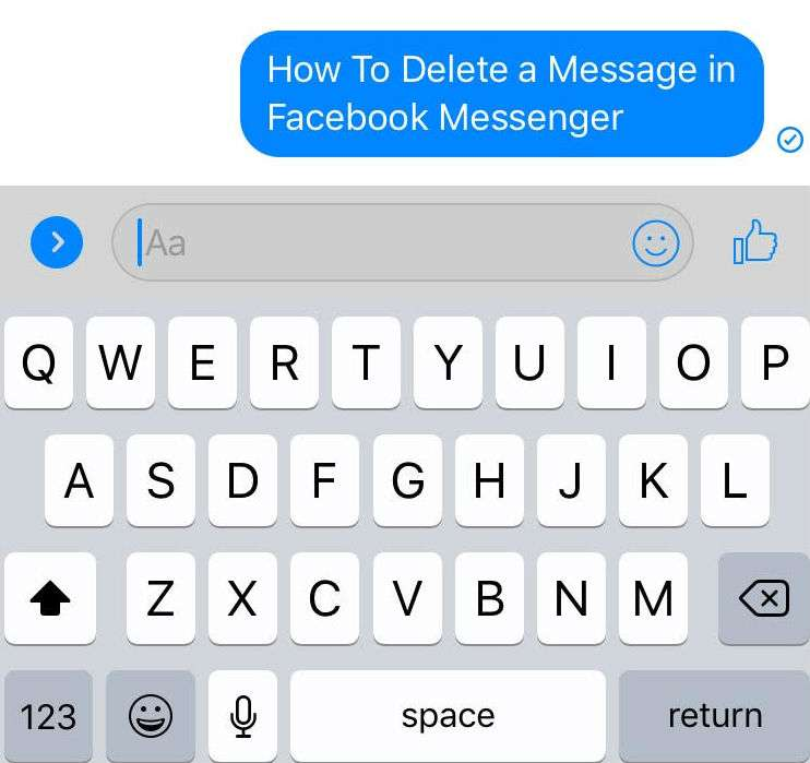 Delete Message Facebook