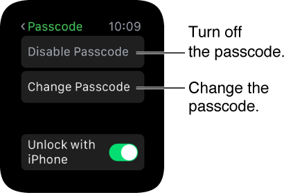 Apple Watch Passcode Settings