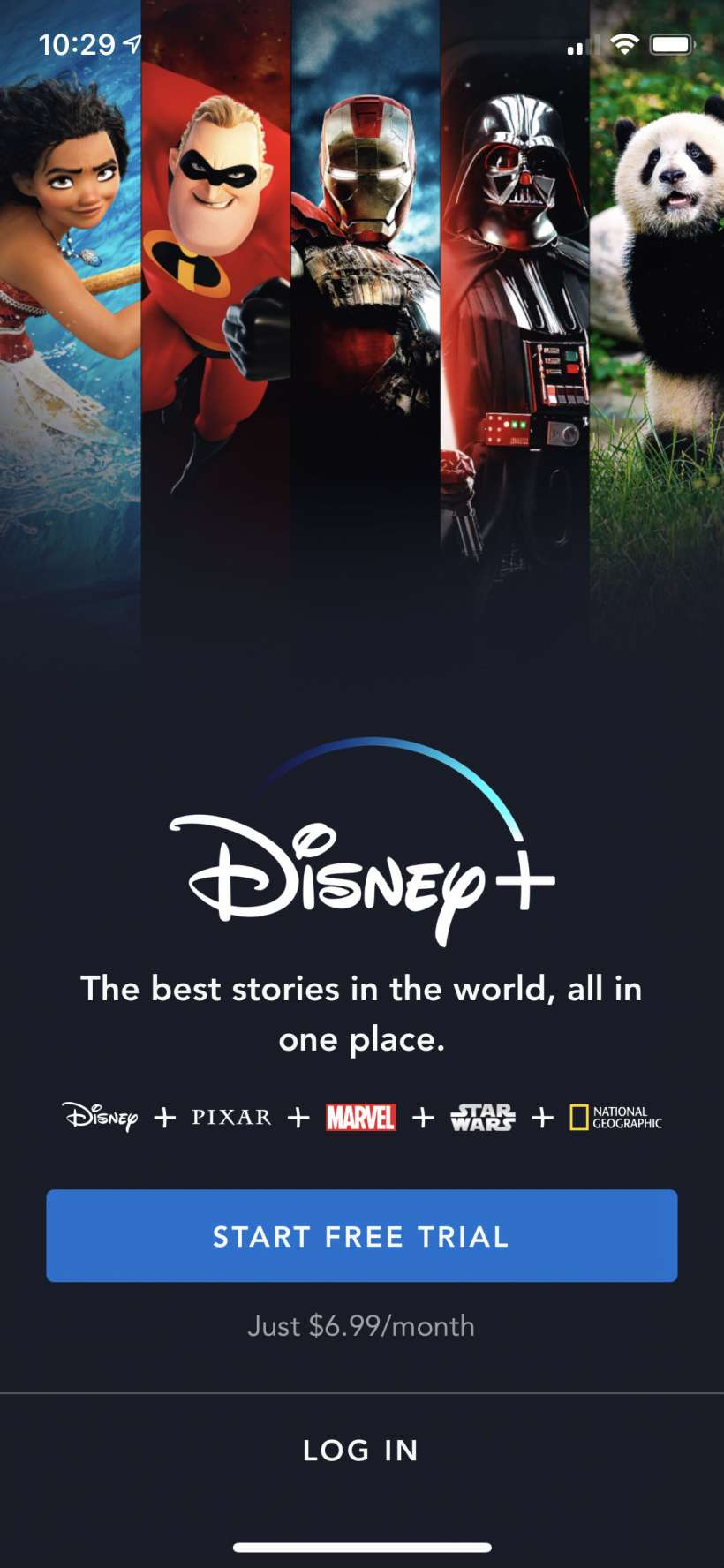 How to start your free one week trial period of Disney+ on iPhone and iPad.
