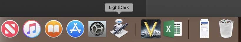 How to add a Night Mode toggle to your Mac Dock.