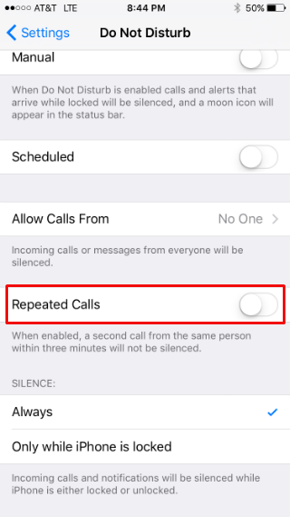 How to configure your iPhone's Do Not Disturb settings.