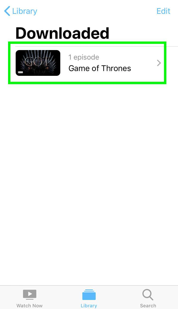 HBO show download iOS device 5