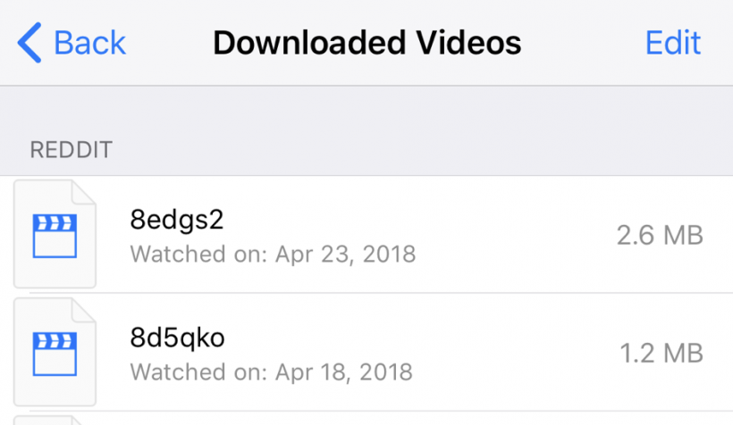 Downloaded Videos