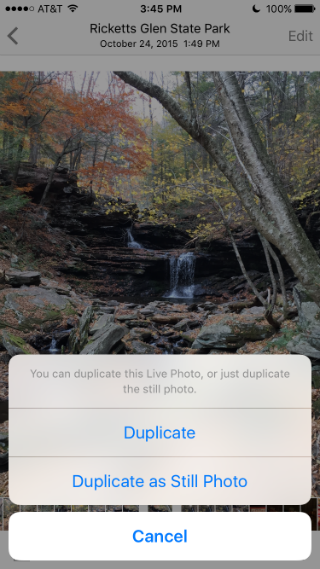 How to duplicate photos in iOS 9.3.