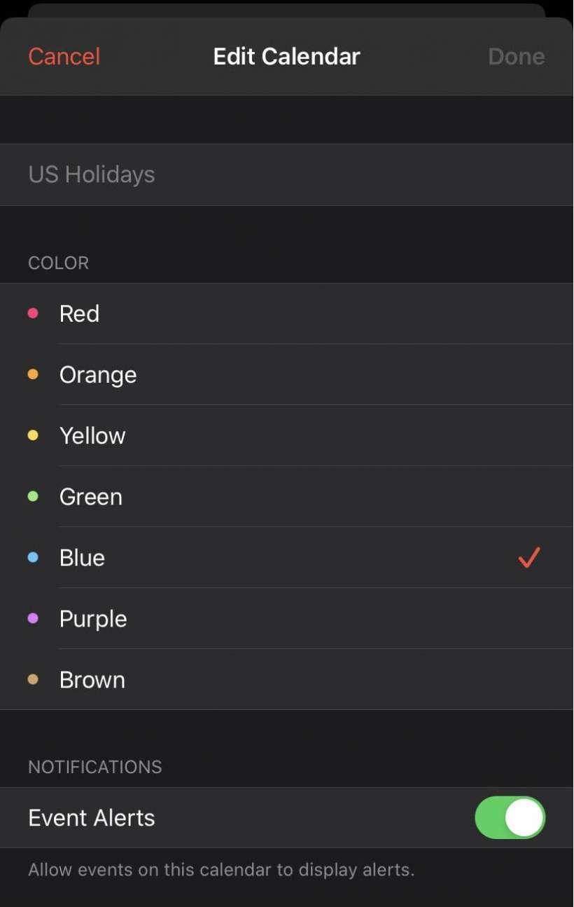 Edit iOS Calendar