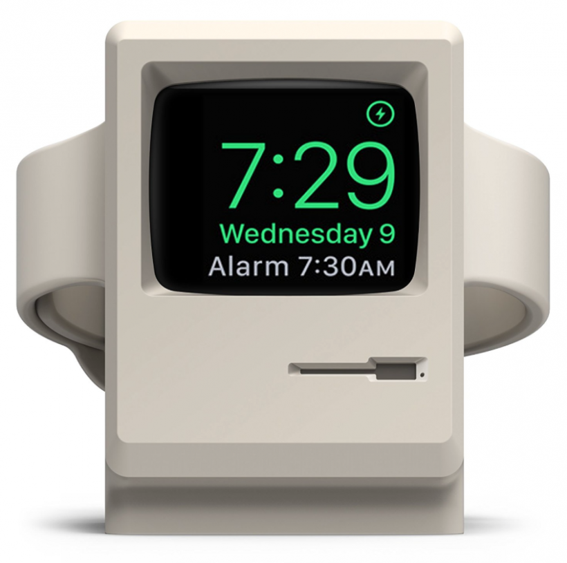 Apple Watch W3 stand Macintosh 128k
