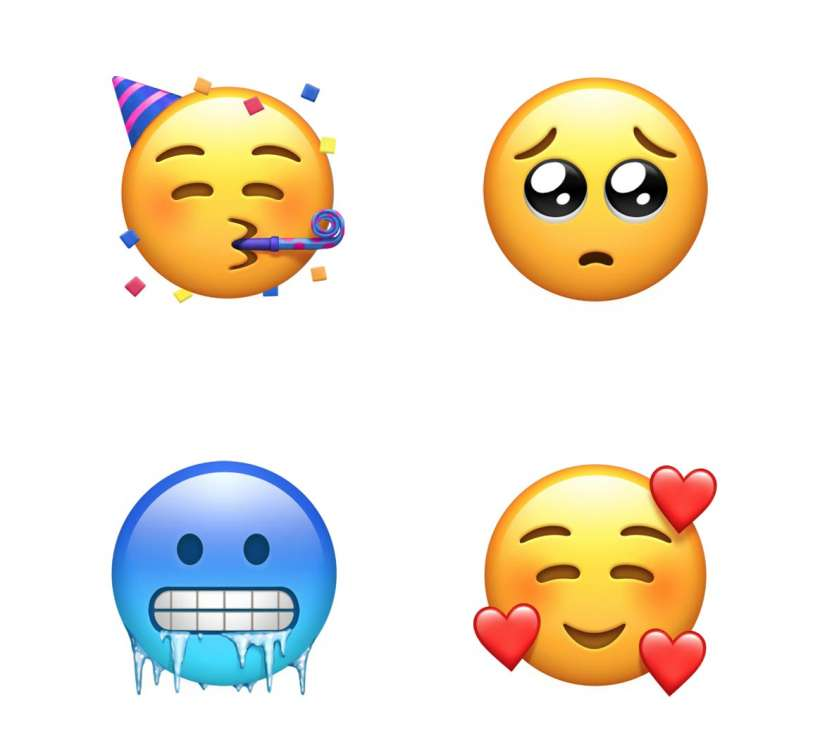 Apple Emoji 2018 smileys
