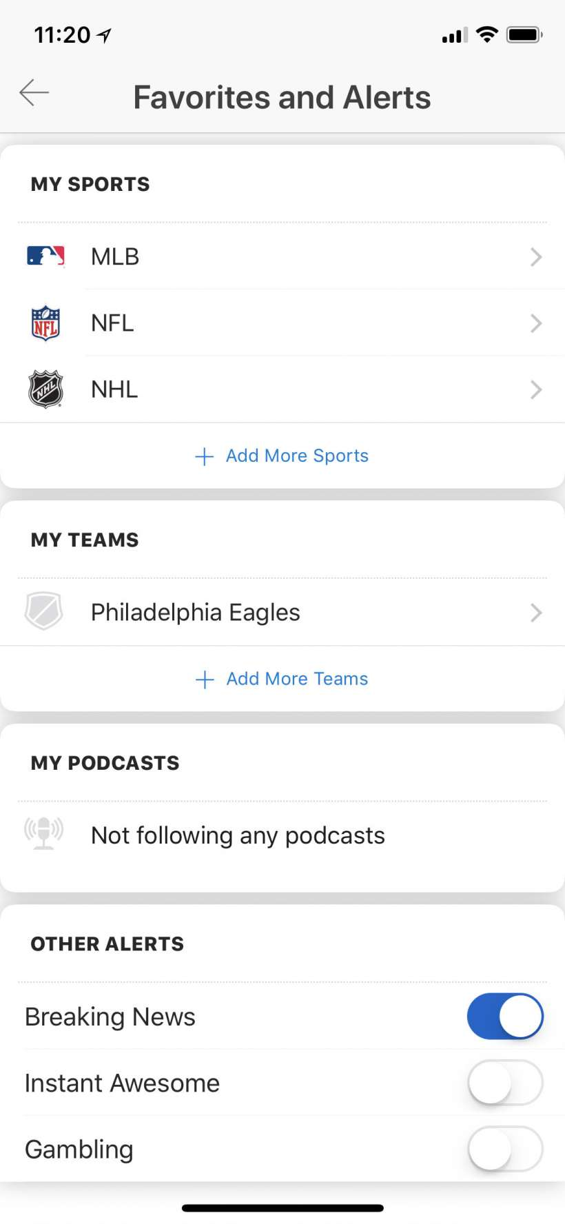 How do I stop notifications from the ESPN app for iPhone? | The