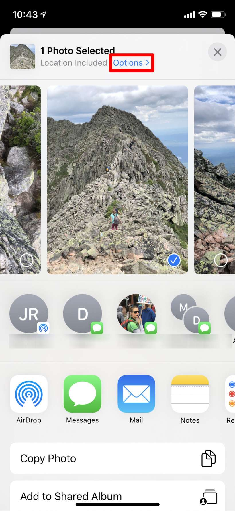How to send photos without location data on iPhone and iPad.
