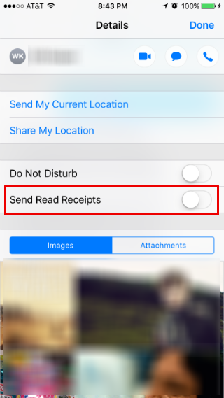 How to set individual read receipts in Messages.