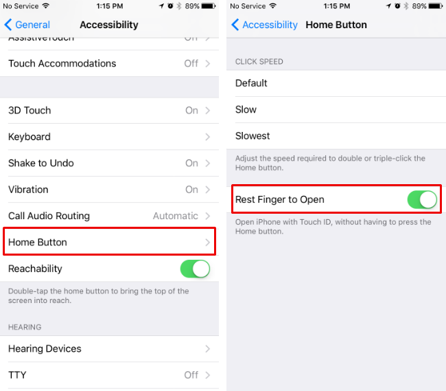 how to change home on iphone ios 10