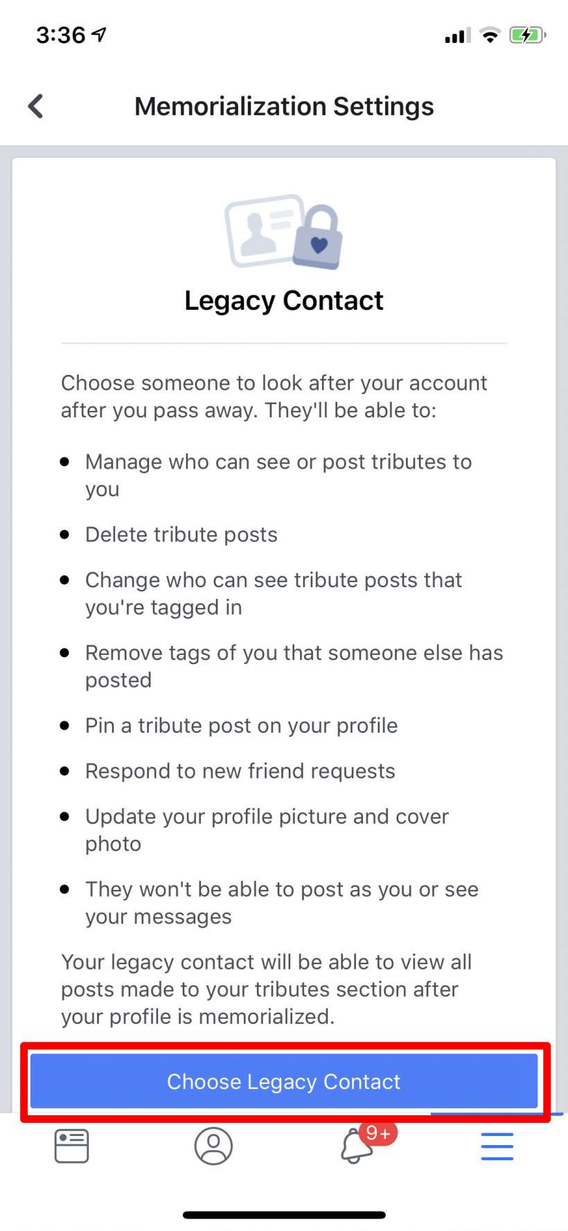How to add a legacy contact and have your Facebook account deleted after you die.