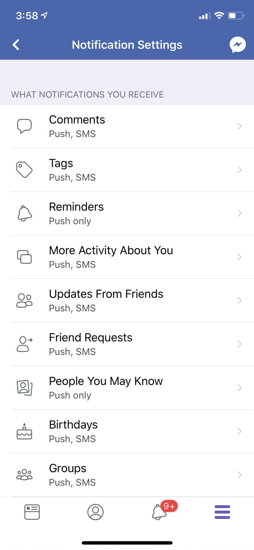 How to stop Facebook from texting and emailing notifications on iPhone and iPad.