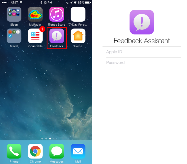 How to use Apple's iOS public beta Feedback app.