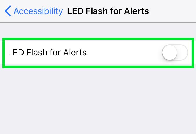 iPhone flash visual alerts
