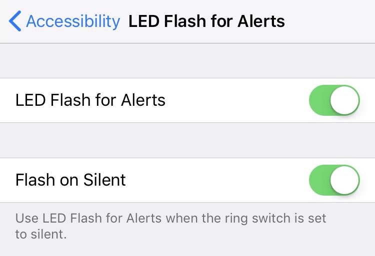 iPhone flash on silent