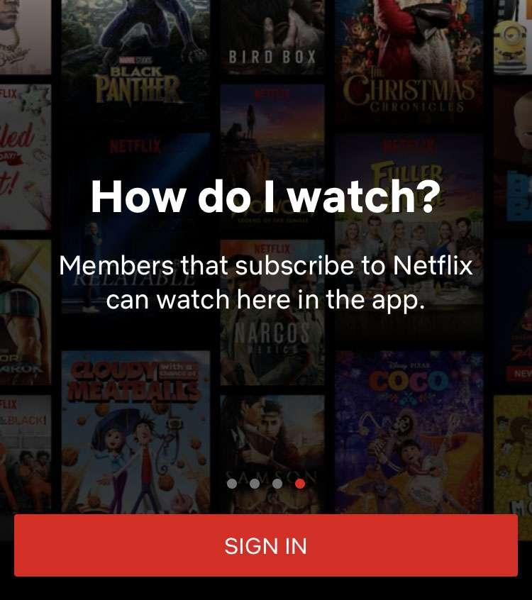 Netflix sign-up