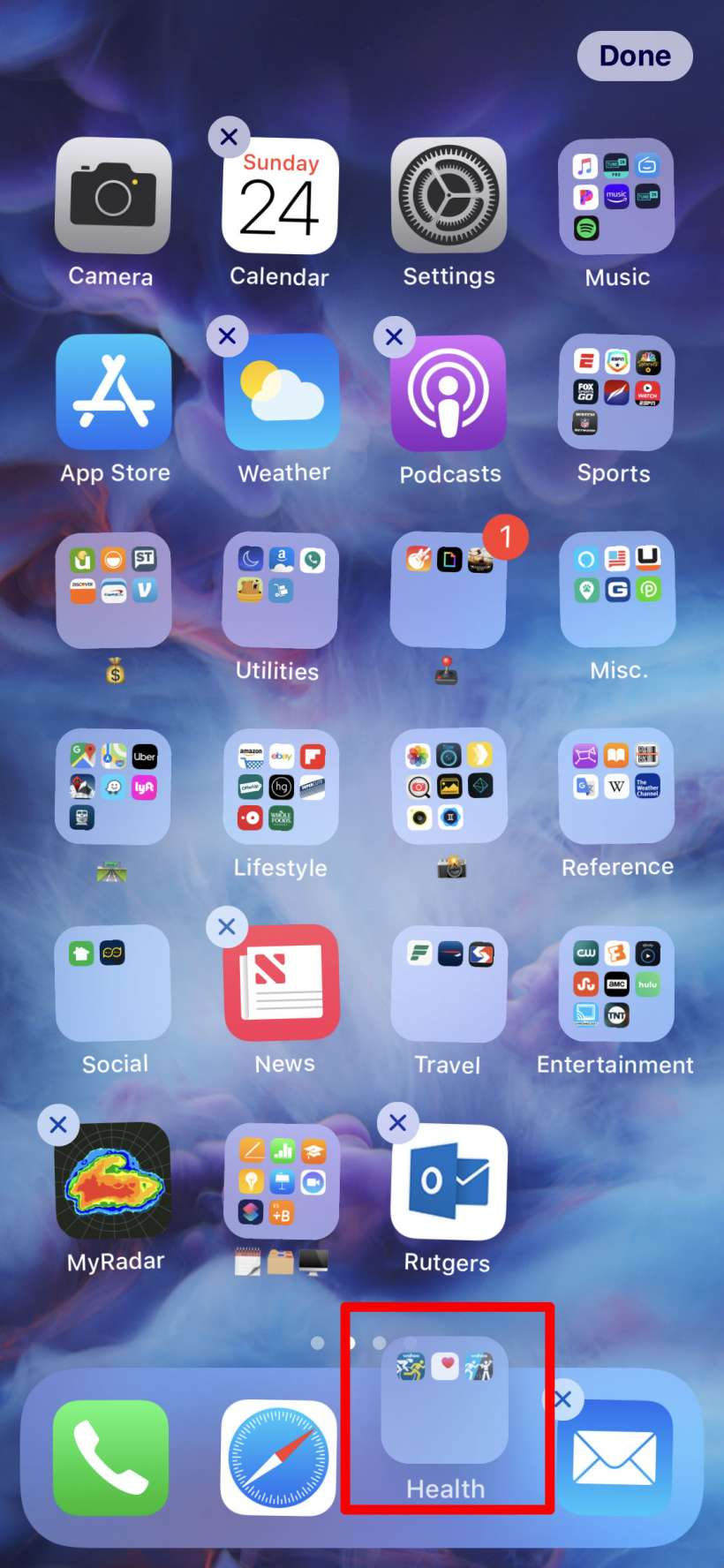 How to put a folder on your iPhone or iPad dock.