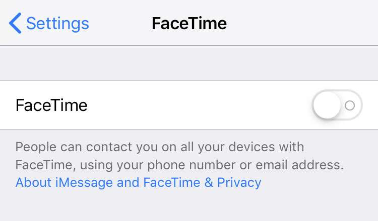 FaceTime iCloud Apple ID disabled