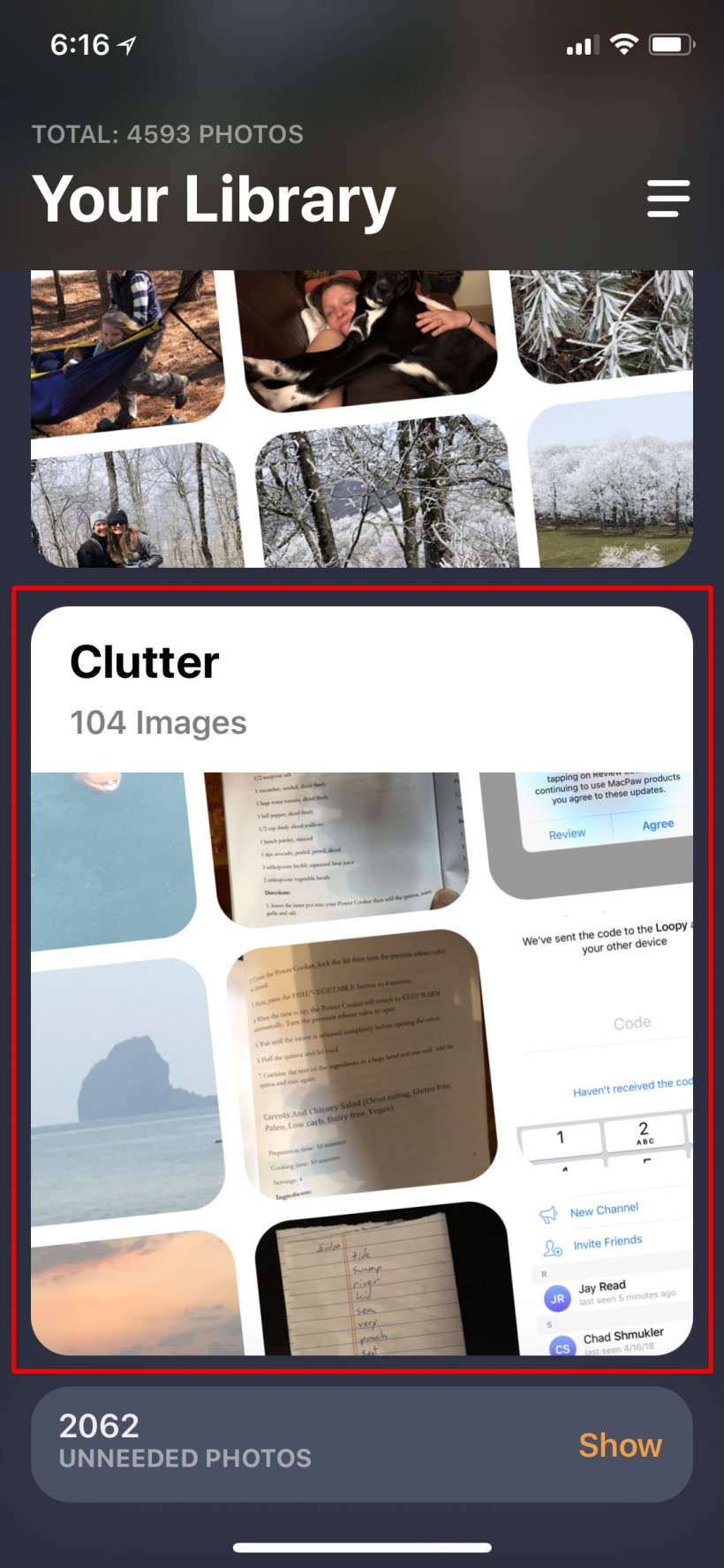 How to easily clean up duplicate, blurry and other clutter photos from iPhone camera roll with Gemini.