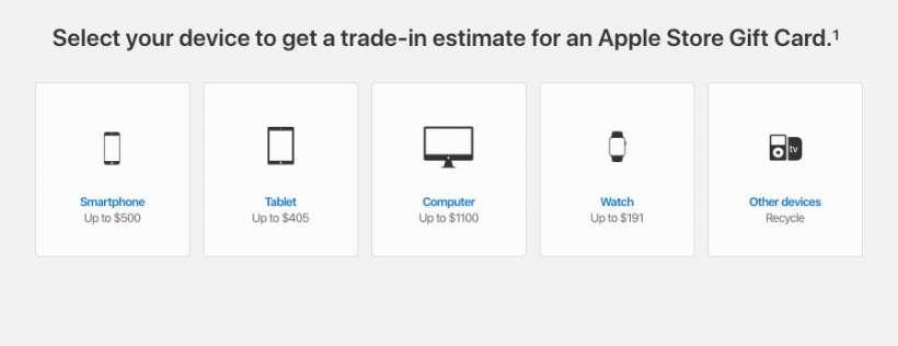 Apple GiveBack smartphone cash landing