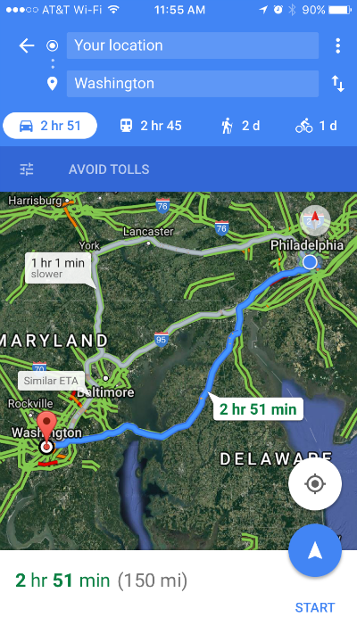 How to avoid tolls, highways and ferries with Google Maps for iOS.