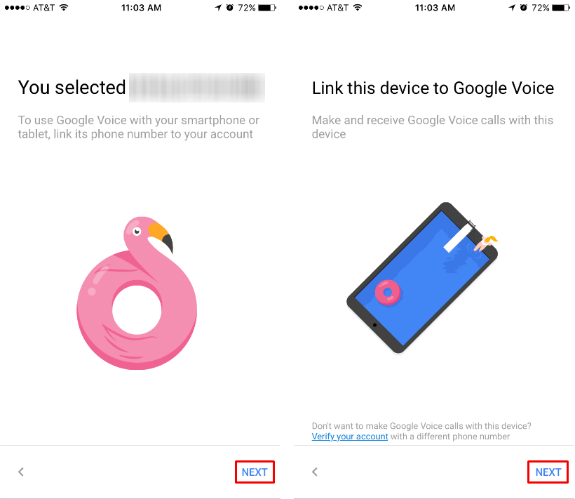 how to get a google voice number for iphone