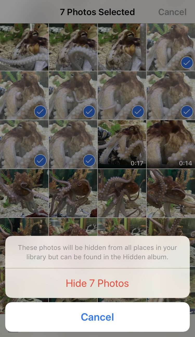 How to hide photos on iPhone 4