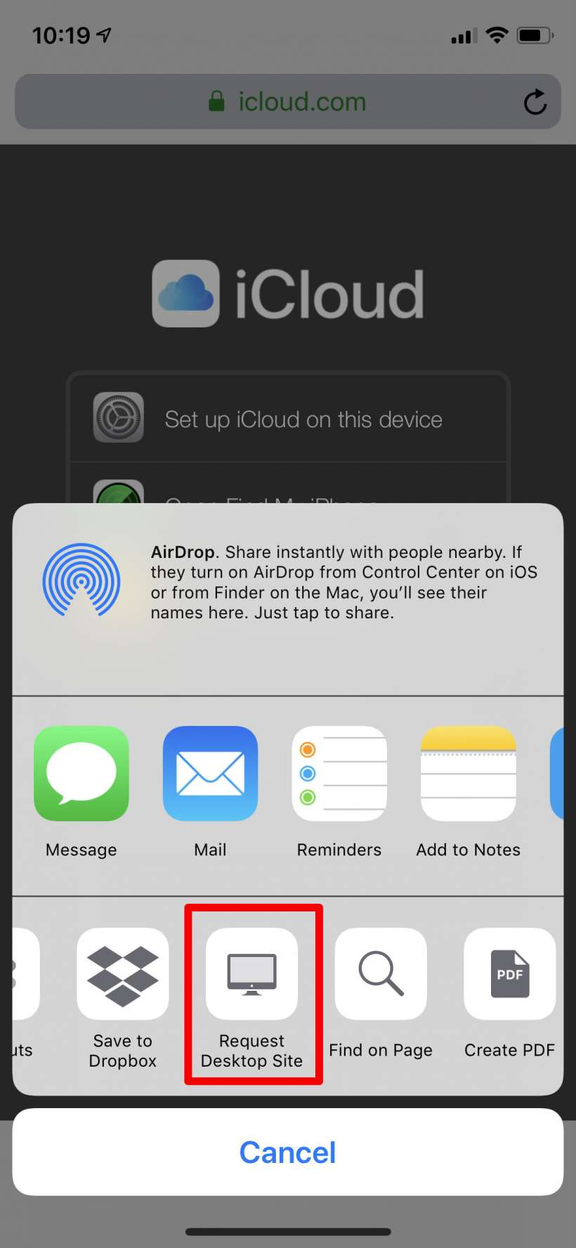 How to log into iCloud from your iPhone or iPad.