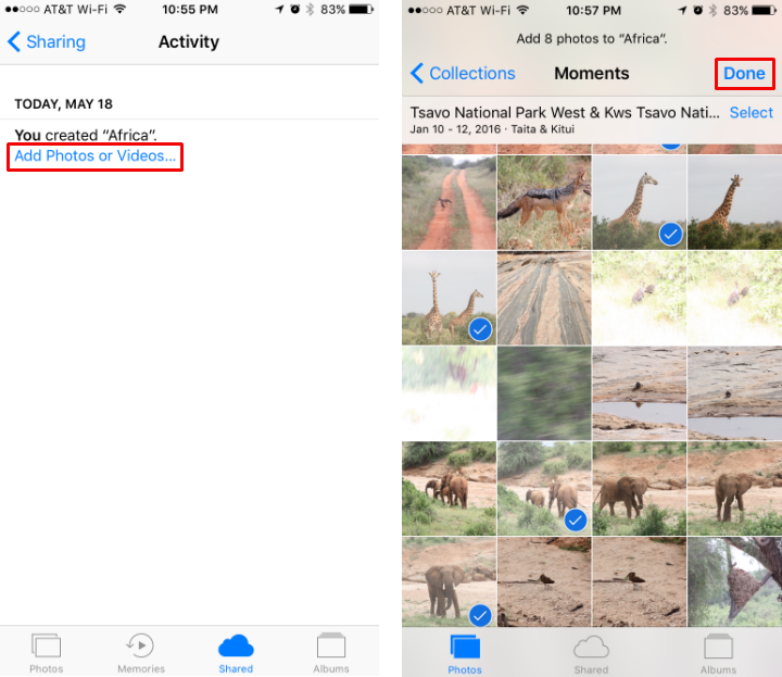 How to share photos on iCloud on iPhone and iPad.